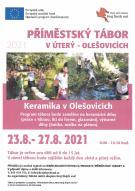Příměstský tábor v Olešovicích 23.8. - 27. 8. 2021